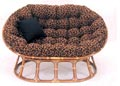 Cheetah Papasan Cushion Only 46